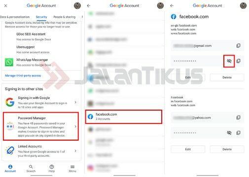 Cara Melihat Kata Sandi Facebook Yang Ada Dalam Android Custom 2f57b