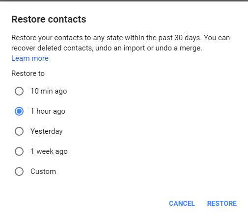 cara mengembalikan kontak yang hilang 8