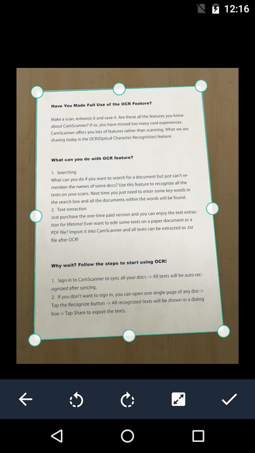 scan dokumen di android dengan camscanner