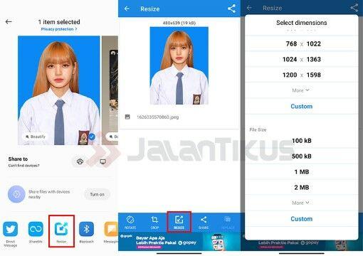 Cara Memperkecil Ukuran Gambar Di Hp Online Custom 139ca