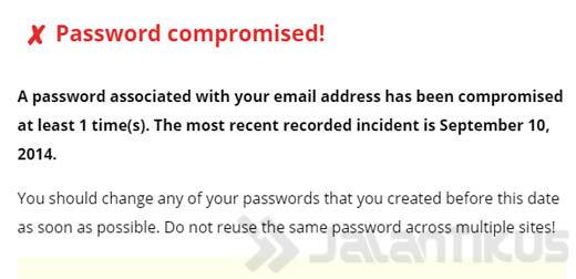 Password Compromised