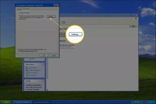Cara Mematikan Firewall Di Windows XP Buka Opsi Settings 665a9