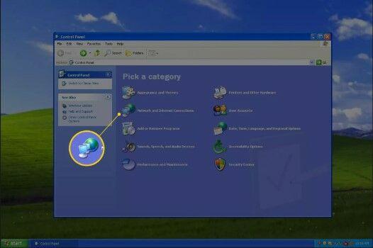 Cara Mematikan Firewall Di Windows XP Masuk Ke Network And Internet Connection Fe0b3