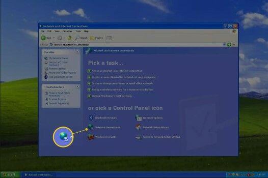 Cara Mematikan Firewall Di Windows XP Pilih A Control Panel Icon A94b5
