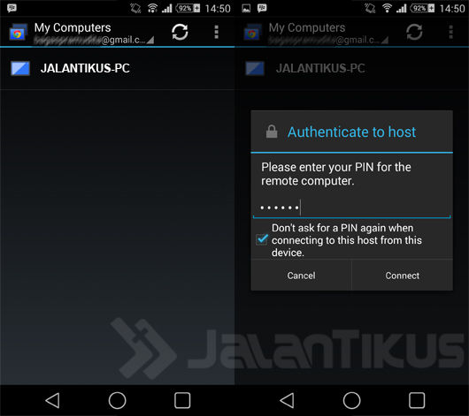 Cara Remote Android 7