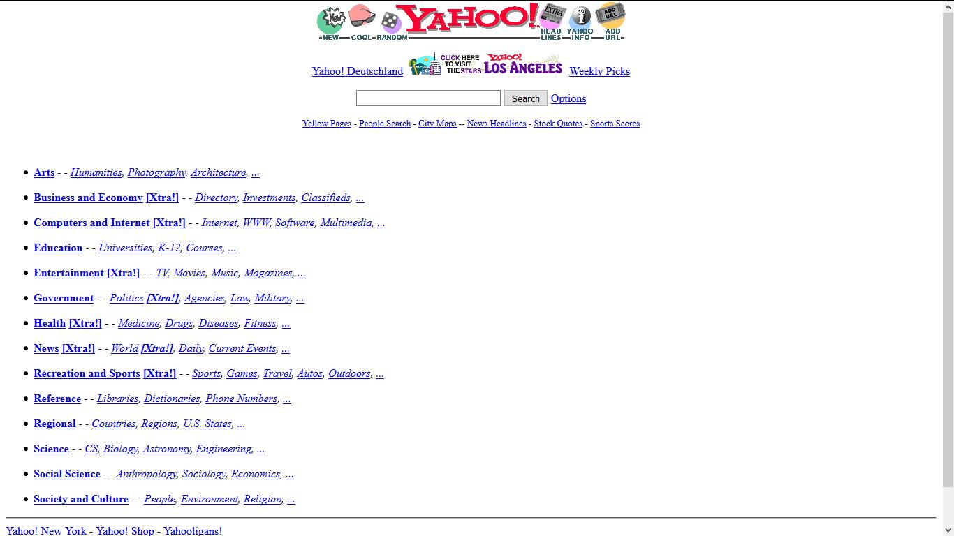 Wew! Begini Ternyata Tampilan Kwikku, Kaskus, Google dan 7 Situs Populer Lain di Jaman Dulu
