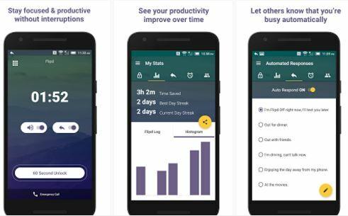 Aplikasi untuk mengurangi kecanduan smartphone, Flipd