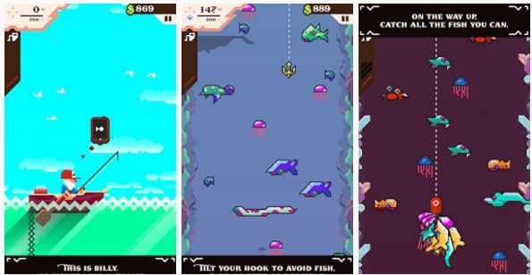 Game Android Ridiculous Fishing