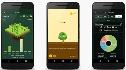 Aplikasi untuk mengurangi kecanduan smartphone, Forest - Stay Focused