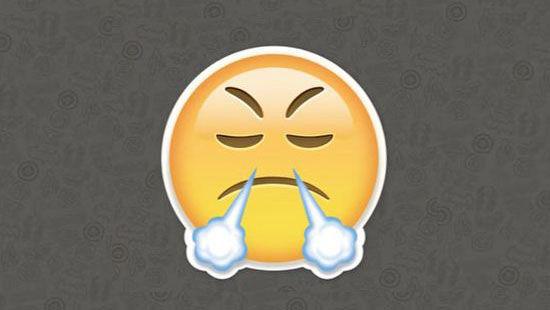 Emoji Mengeluarkan Nafas Dari Hidung