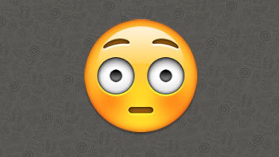 Emoji mata melotot alis terangkat