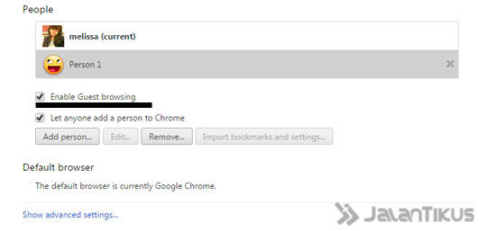Chrome Guest Browsing