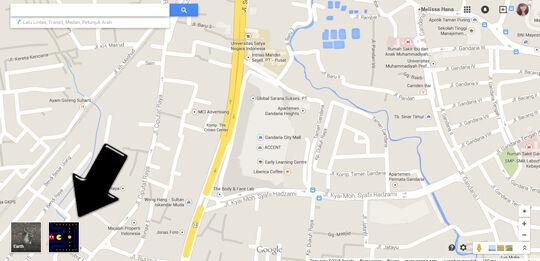 Peta Gandaria City Untuk Game Pacman