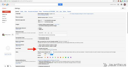 Gmail Undo Send 3