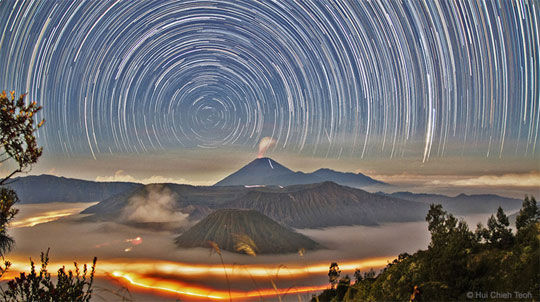 Star Trails Over Bromo
