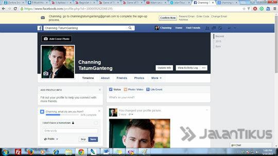 Halaman Profil Fb