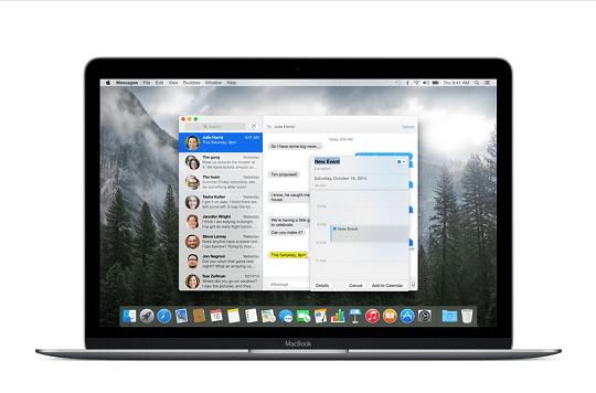 Layar Macbook
