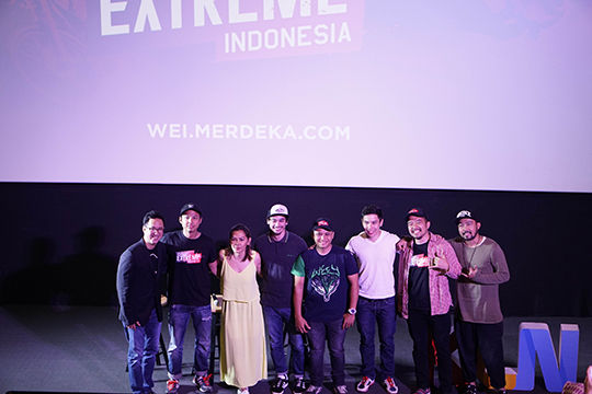 Seluruh Tim Produksi Wonderful Extreme Indonesia Saat Press Conference Di Cgv Blitz Grand Indonesia