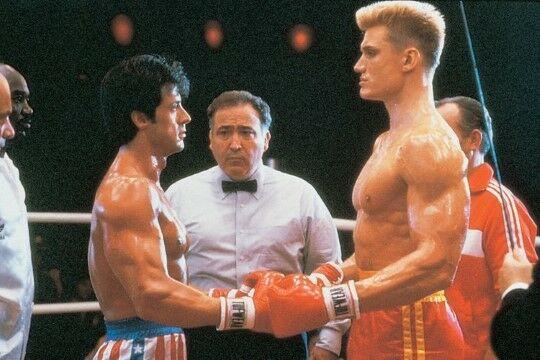 Dolph Lundgren Dan Sylvester Stallone Rocky IV 1e4e1
