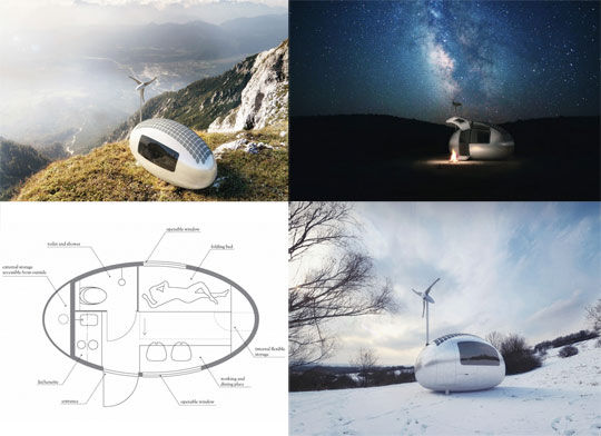 Solar Powered Ecocapsules Pod