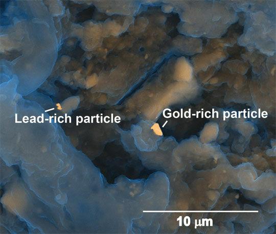 Gold Partikel