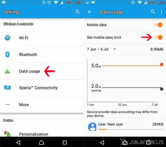 Mobile Data Limit