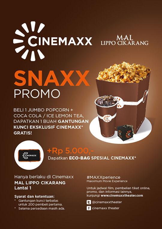 Cinemaxx Mal Lippo Cikarang Snaxx Promo
