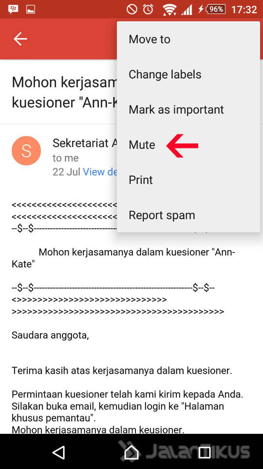 Mute Email