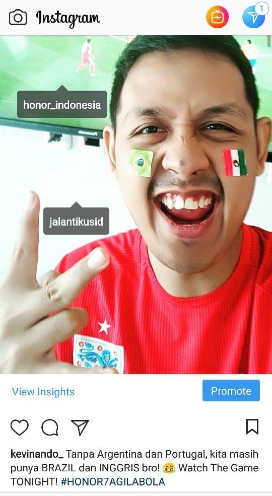 Selfie Honor Piala Dunia 92fbb