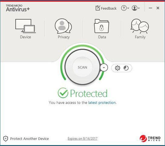 Trend Micro Antivirus+ Security 2017