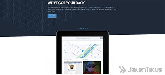 Tampilan Website Prey