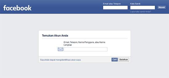 cara mengembalikan akun fb yang di hack dan email diganti