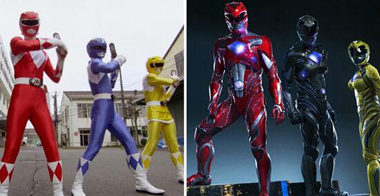 Superhero Dulu Vs Sekarang Power Rangers