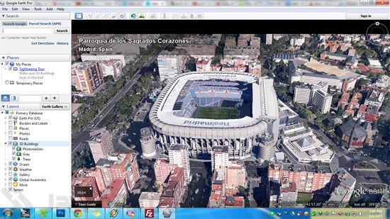 Santiago Bernabue Google Earth