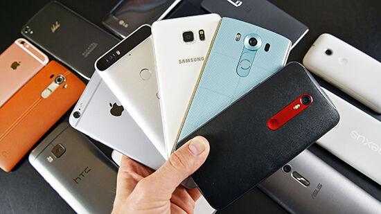 Smartphone Android Baru Bertaburan