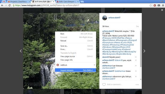 Cara Download Foto Instagram Tanpa Aplikasi 6