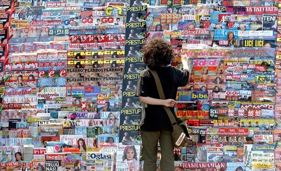 Bigstock News Papers Stand 83911955