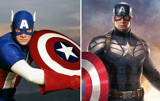 Superhero Dulu Vs Sekarang Captain America
