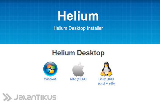 Backup Aplikasi Menggunakan Helium2