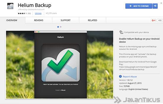 Backup Aplikasi Menggunakan Helium3