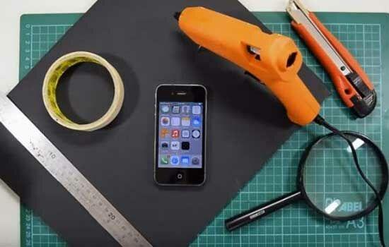 Proyektor Smartphone Dari Kardus Sepatu