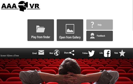 Vr Video Player Android Terbaik Aaa Vr Cinema Cardboard 3d Sbs