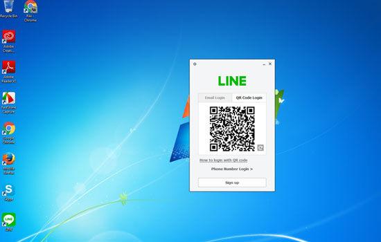 Cara Install Facebook Whatsapp Instagram Line Di Pc Line Qr