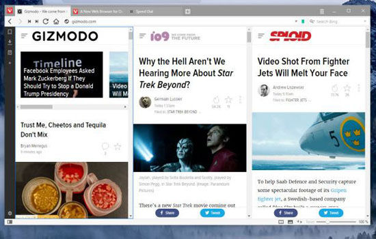 5 Keunggulan Browser Vivaldi Side By Side Browsing