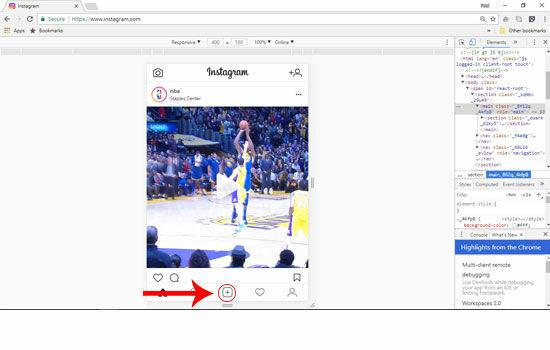 how to add instagram via pc