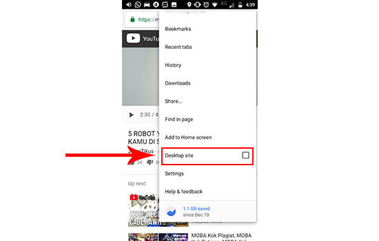 cara memutar youtube di background android