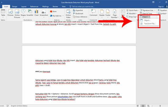 Cara Membuka Dokumen Word Yang Rusak 3