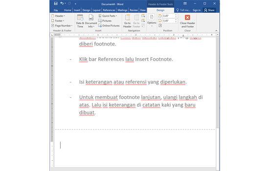 Cara Membuat Footnote 9c016