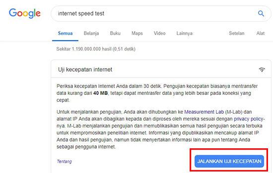 Cara Mengecek Kecepatan Internet Google Speed Test 38cf1